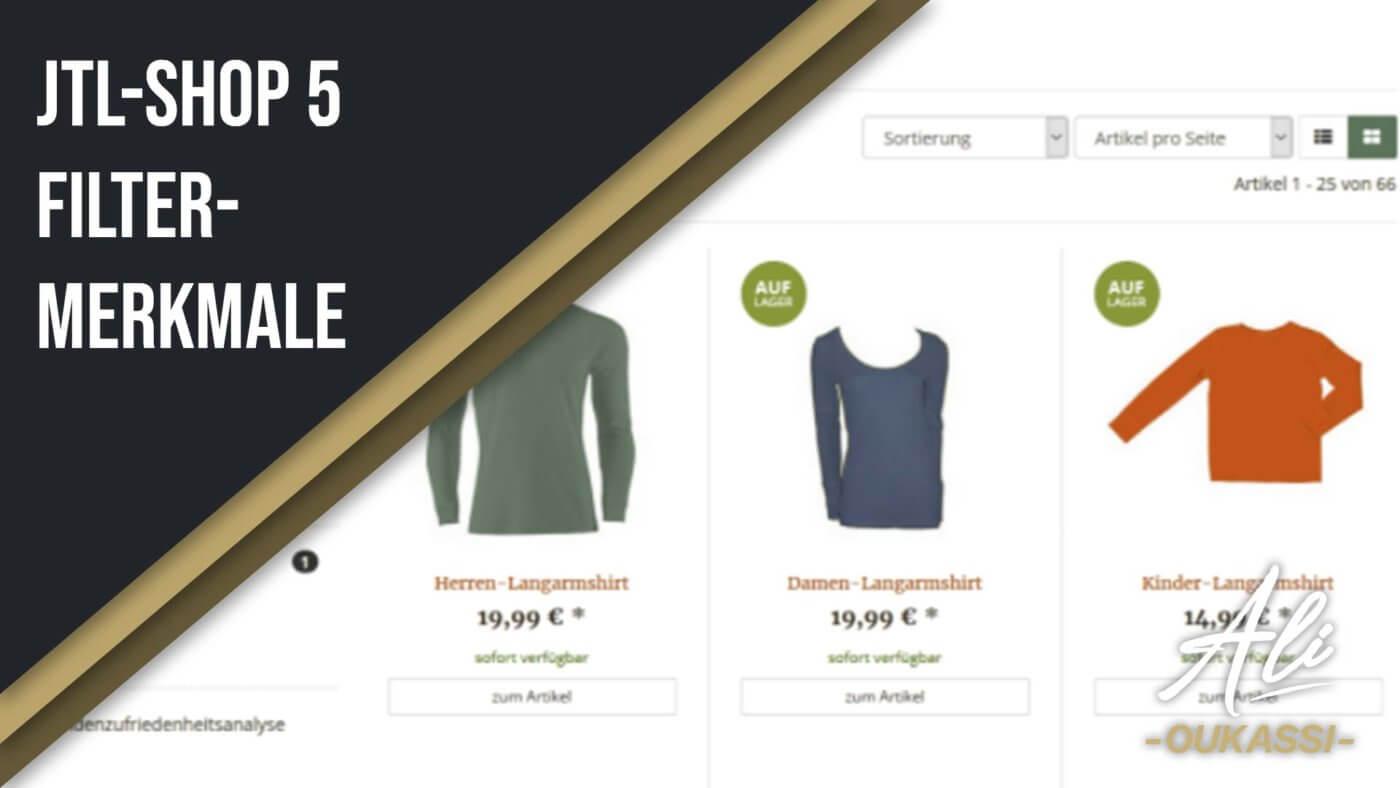 JTL-Shop 5 Filter-Merkmale
